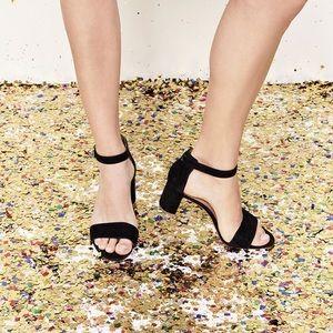 Madewell black suede Lainy sandal size 7